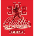 Baseball league graphic vector image
