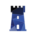 castle icon Abstract Triangle vector image