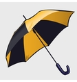 Classic black and yellow open umbrella vector image