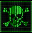 digital skull on dark background vector image