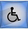 disabled Flat modern web design on a flat vector image