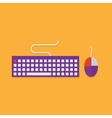 Flat icons of input devices Keyboard and mouse vector image