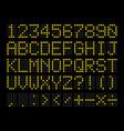 led digital alphabet vector image