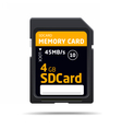 memory sd card for various devices vector image