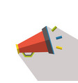 noisy megaphone flat icon with long shadows vector image