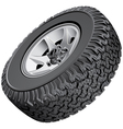 Offroad vehicles wheel vector image