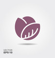 red cabbage flat icon colorful logo vector image