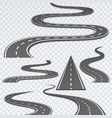 road with white stripes on a plaid background vector image