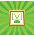 Wi-Fi monitor picture icon vector image