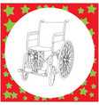 wheelchair with details in the hospital vector image
