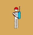 flat shading style icon soldier holding walkie vector image vector image