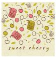 sweet cheery vector image vector image