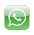 Green phone in speech bubble icon WhatsApp vector image