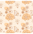 seamless floral texture of decorative flowers vector image vector image