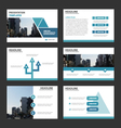 Triangle presentation templates Infographic set vector image