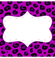 Leopard retro frame for your text vector image vector image