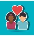 couple love design vector image