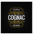 cognac whiskey logo design background vector image