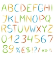 Decorative englis alphabet vector image