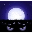 Eyes at night vector image
