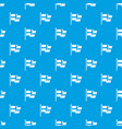 flag of sweden pattern seamless blue vector image