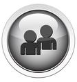 forum buddy icon vector image