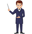 funny magician cartoon for you design vector image