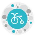 of family symbol on bicycle vector image