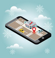 online shopping and e-commerce concept snow vector image