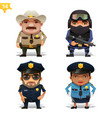 police professions set vector image