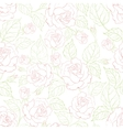 Rose seamless background vector image