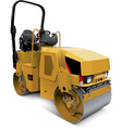 Tandem vibratory roller vector image vector image
