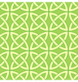 green celtic pattern vector image