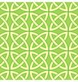 Green celtic pattern vector image