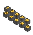 3d cube number vector image