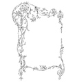 classic floral frame vector image