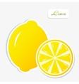 lemon sticker vector image vector image