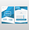 Blue annual report Leaflet Brochure Flyer template vector image