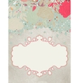 Background with hearts and flower EPS 8 vector image