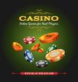 casino online background vector image