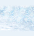 christmas winter on blue background white snow vector image