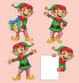 elf christmas character vector image