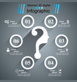 question head - business infographic vector image