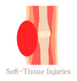 soft tissue injury icon cartoon style vector image