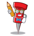 student red pin character cartoon vector image