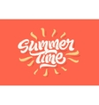 Summer time lettering logo vector image