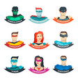 superhero avatars collection vector image