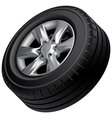 Automobile wheel isolated vector image
