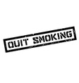 Quit Smoking rubber stamp vector image