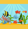 fishes in aquarium or ocean underwater vector image